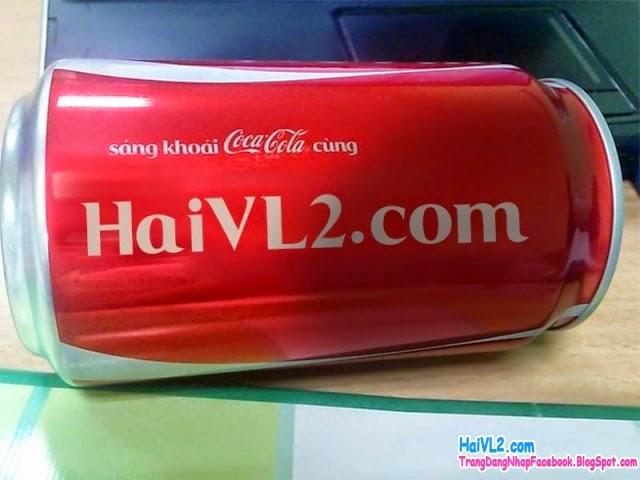 viết chữ, in tên lên lon CocaCola