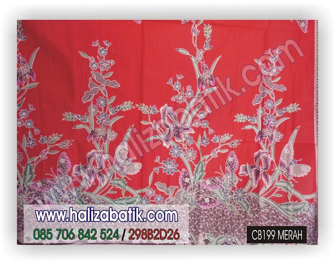 grosir batik pekalongan, Model Kain Batik, Model Batik, Baju Batik Modern, CB199 MERAH