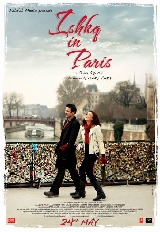 Poster Of Hindi Movie Ishkq in Paris (2013) Free Download Full New Hindi Movie Watch Online At Alldownloads4u.Com