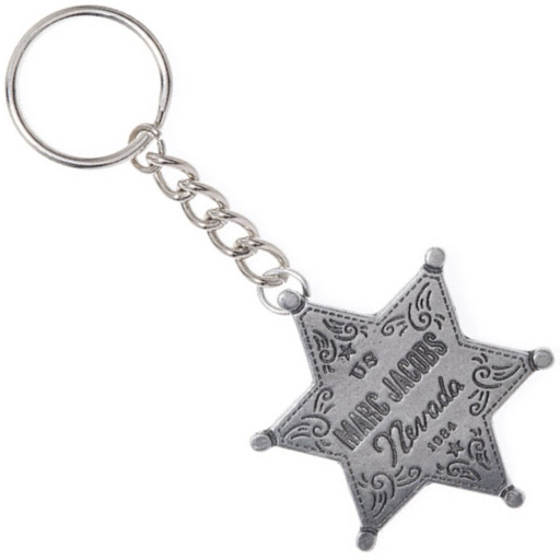Marc by Marc Jacobs Vegas Badge Keychain Pewter Nevada Star