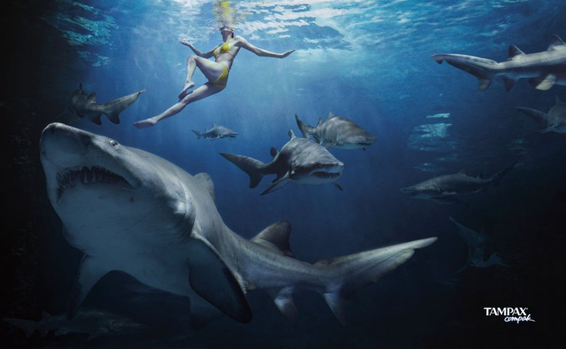 The Fake Tampax Shark Attack Ad Is Awesome