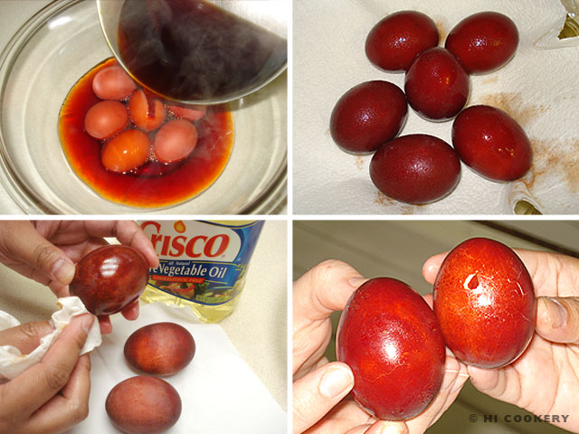 Greek Red Easter Eggs