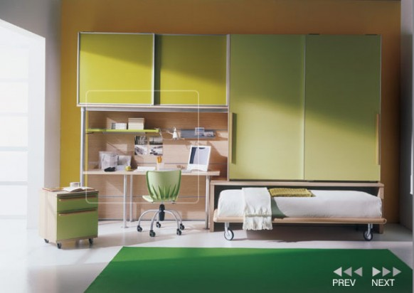 Kids bedroom interior design for small rooms awesome for Space saving interior design ideas