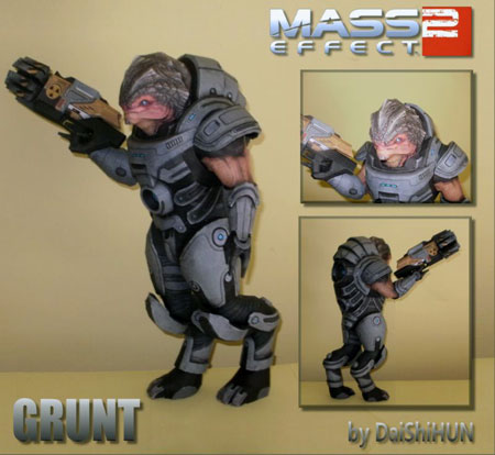 Mass Effect 2 Grunt Papercraft