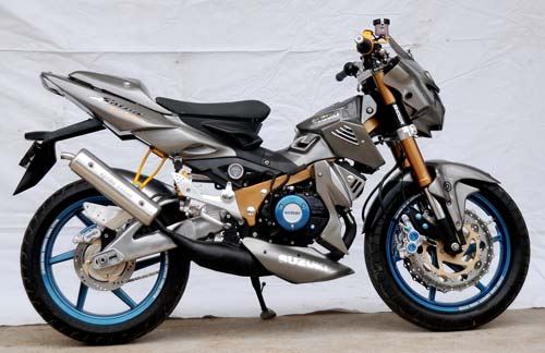Motor Cycle Modifikasi  Modifikasi Suzuki Satria 120cc