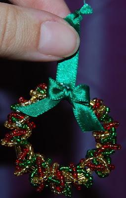 Naturally Me Creations Mini Beaded Wreath For Xmas Tree