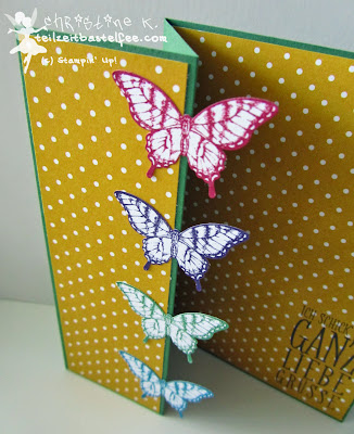 stampin up, papillon potpourri, wimpeleien, perfect pennants, butterfly, schmetterling