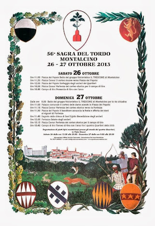 Sagra del Tordo, Montalcino. Program October 2013