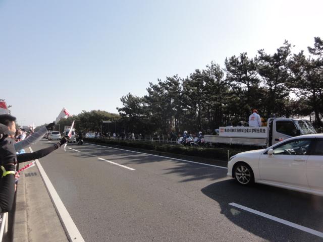 箱根駅伝を観戦