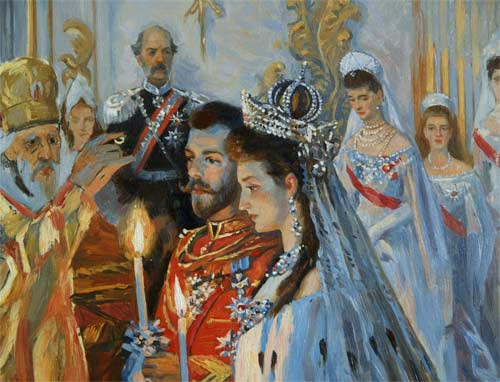 Laurits Tuxen - The wedding of Tsar Nicholas II of Russia and the Princess Alix of Hesse-Darmstadt