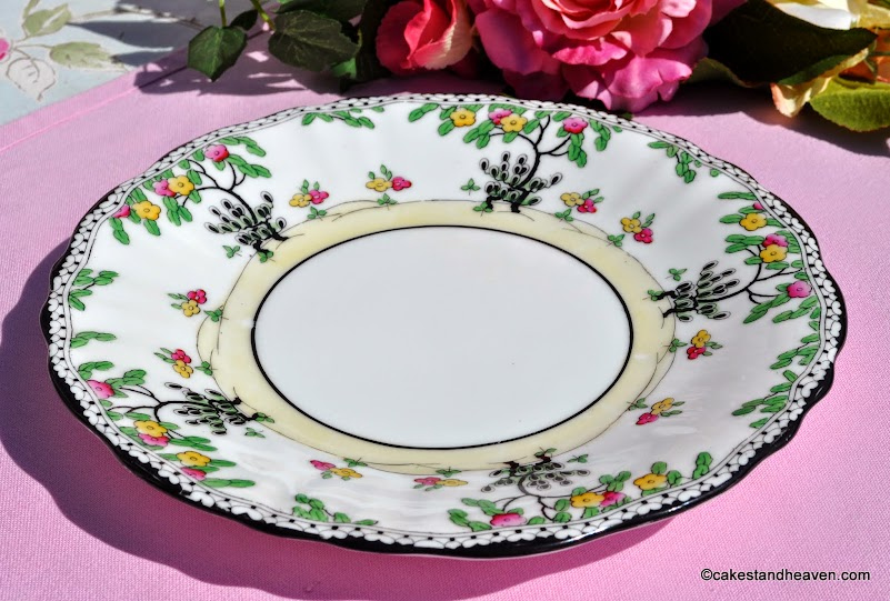 hand painted Art Deco Royal Doulton cake plate