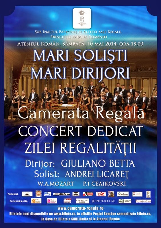 Camerata Regală susține, pe 10 mai, un concert dedicat zilei regalității