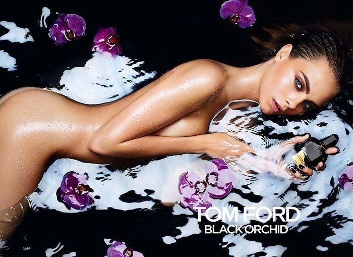 Tom Ford Black Orchid Fragrance, campaña OI 2014: Cara Delevingne