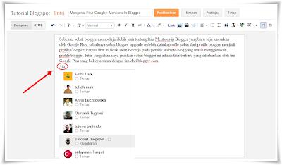 mentions in bloggger,google+ dan blogger,fitur google+