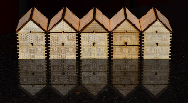 Row of 5 Laser Cut Row Houses