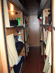 9 people live on the bus most days...its like a submarine i guess...Imagine sharing a 200 square foot apartment with 8 of your co-workers