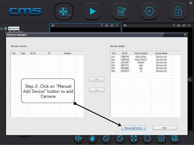 برنامج CMSClient لكاميرات المراقبة Yoosee-cms-wifi-camera-viewer_STEP2