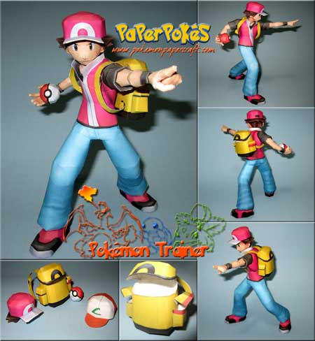 Pokemon Trainer Papercraft Ash Ketchum