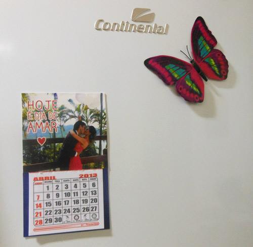 customização de calendário com foto