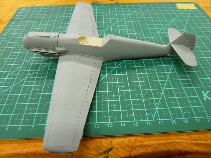 Bf-109 E-3 Tamiya 1/48 - Reforma pintura P1020451