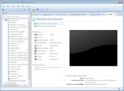 Crear máquina virtual VMware Workstation 8 con Windows 8 Consumer Preview