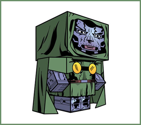 Doctor Doom Papercraft