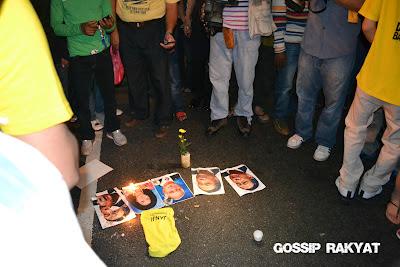 Peserta Bersih Pijak Gambar Najib