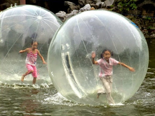 ball that grows in water,inflatable water walk ball,col