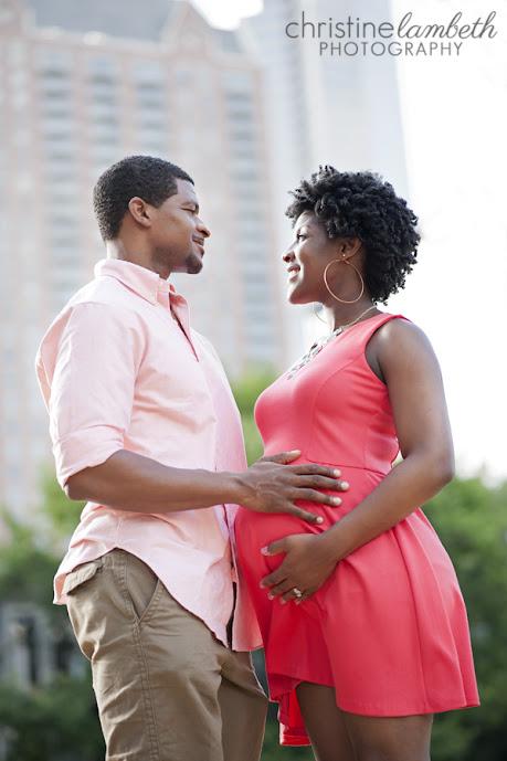 Keisha's maternity photos - big expectations