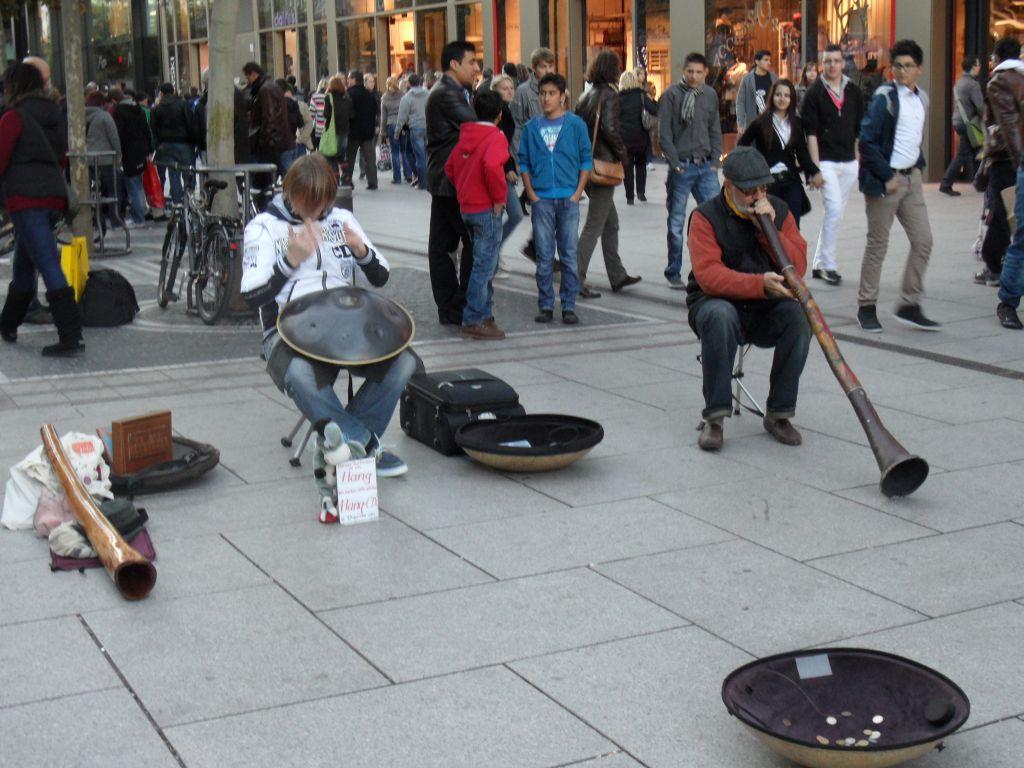 Frankfurt'ta sokak çalgıcıları