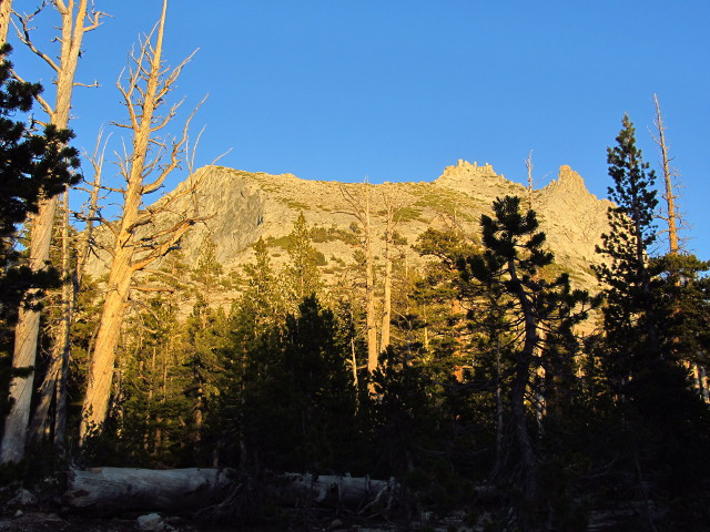 Cathedral Peak in the last of the light