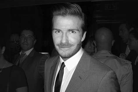 David Beckham, blanco y negro