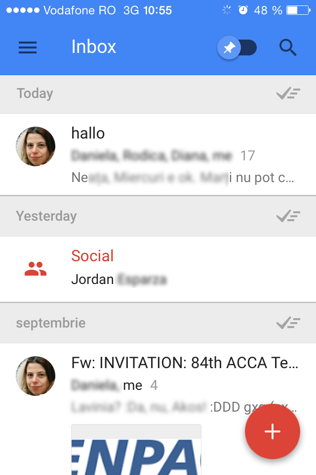Inbox by Gmail main inbox