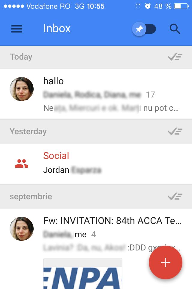 Inbox by Gmail main inbox
