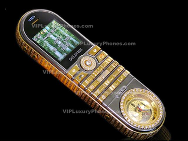 Teléfono móvil de lujo, Gold Wish