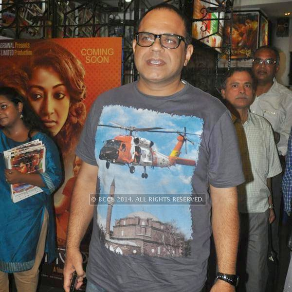 Rajatava Dutta during the premiere of Ranjan Ghosh's movie Hrid Majhare at Priya in Kolkata.
