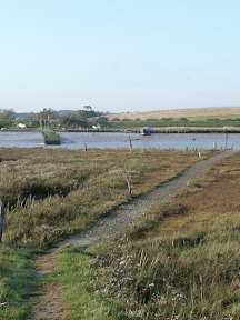 track across the marsh to the ferry jetty