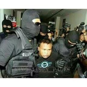Gambar Pak Guard Bunuh Pegawai Bank Ditahan
