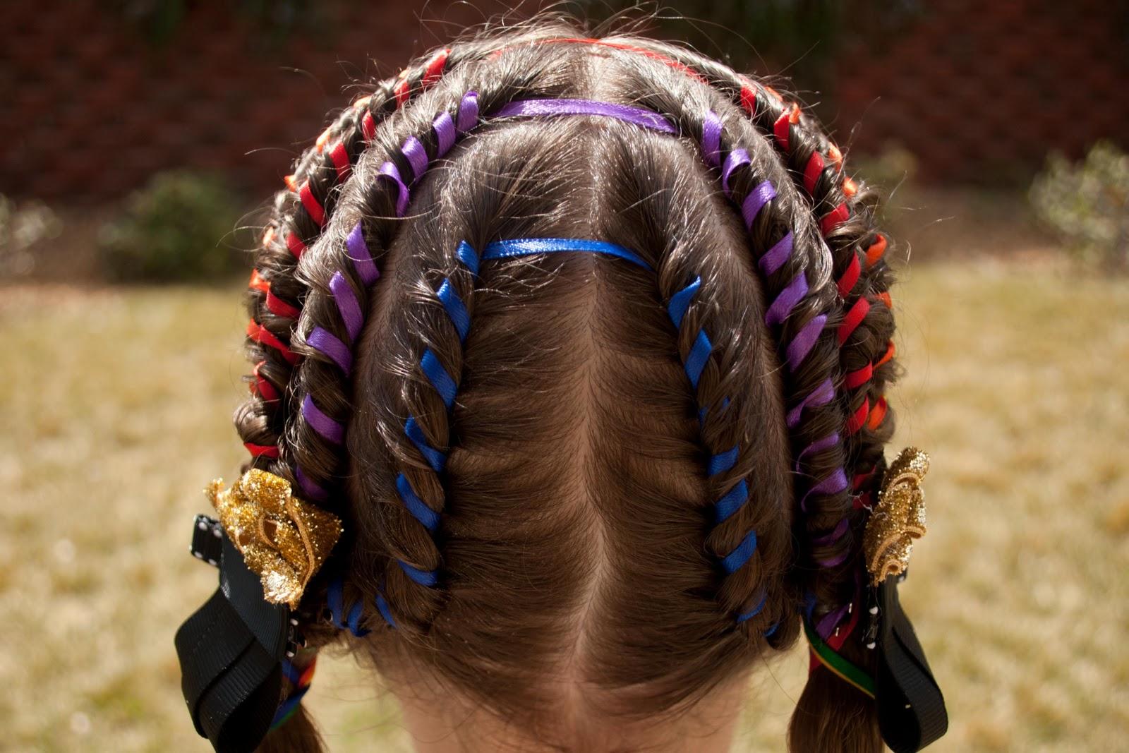 Magnificent Princess Piggies Irish Rainbow Hairstyle Inspiration Daily Dogsangcom