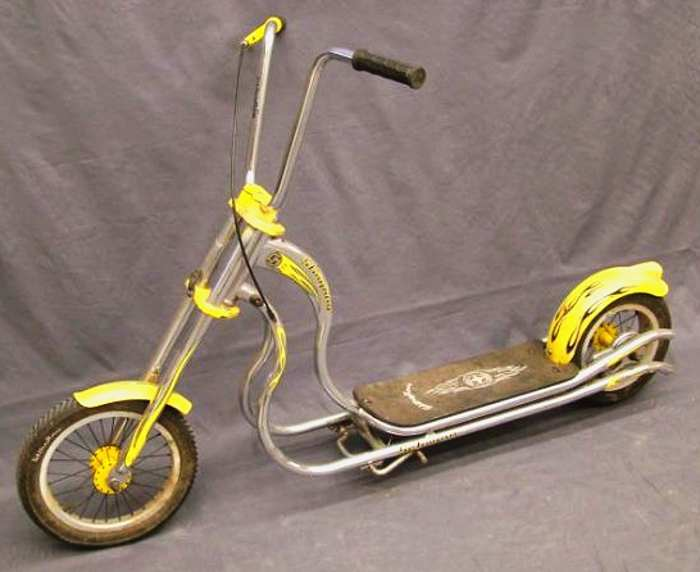 trottinette chopper Schwinn Stingray, couleur jaune - annee 2005