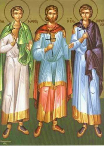 Holy Martyrs Trophimos Sabbatios And Dorymedon As A Model For Our Lives
