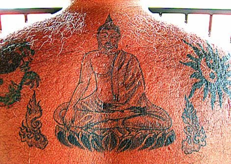 Buddhist Body Art Tattoos   Earth Witness Buddha Tattoo