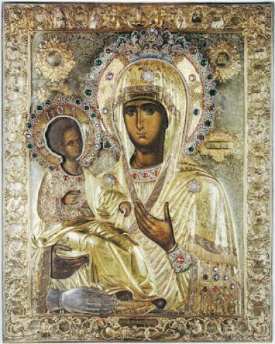 Icon Of The Mother Of God Of The Three Hands