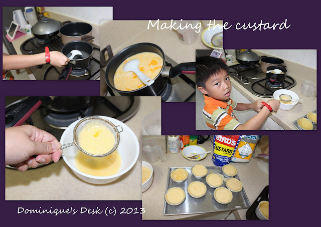 Making the custard