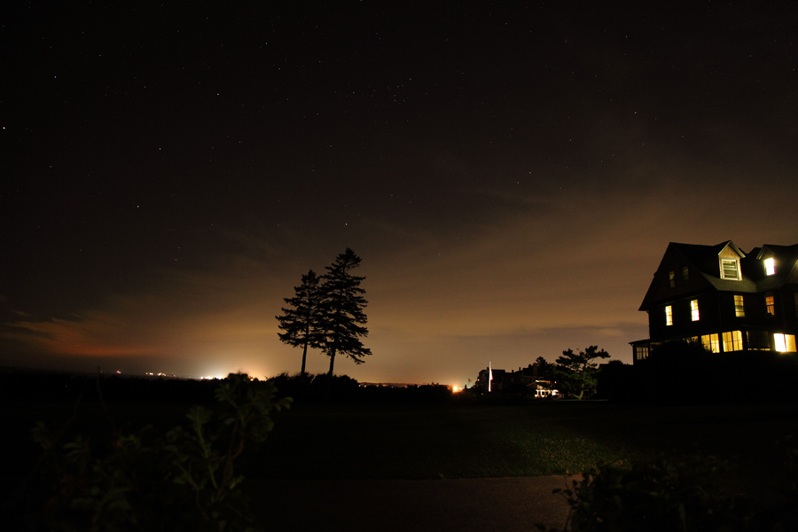 Weekapaug, Rhode Island at night