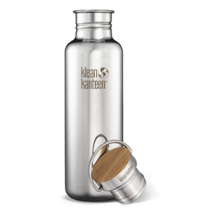 Klean Kanteen Reflect Stainless Steel Water Bottle with Bamboo Cap - 27 Ounce