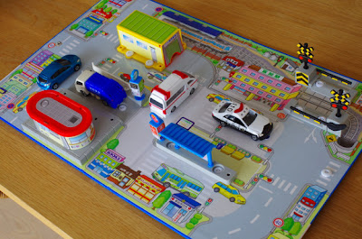 Mô hình bãi đỗ xe 3D cho Tomica