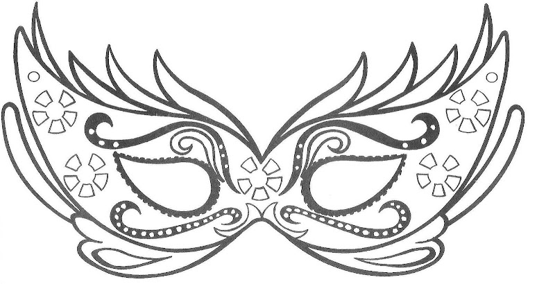 Carnaval mask coloring pages
