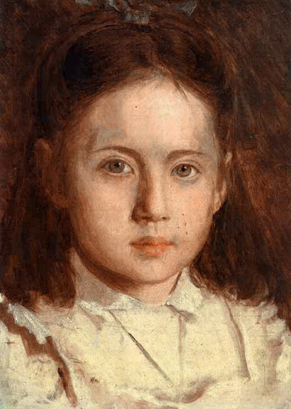 Ivan Kramskoy - Portrait of Sonya Kramskaya, the Artist's Daughter