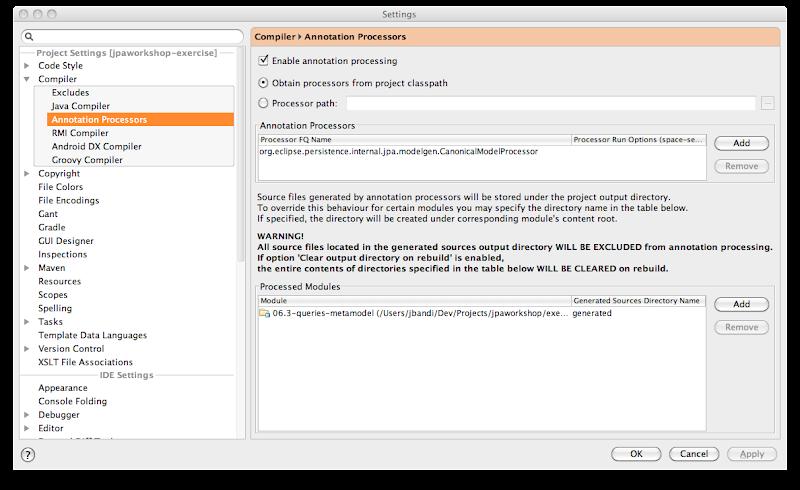 Using the JPA metamodel annotation processor